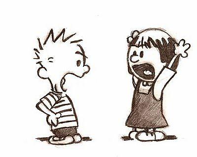 Cartoon Kids Arguing