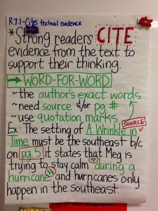 Cite Evidence Notes