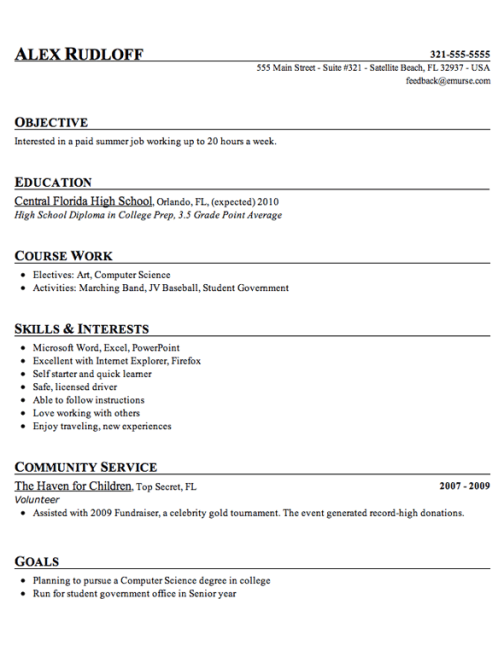 High School Resume Ex3