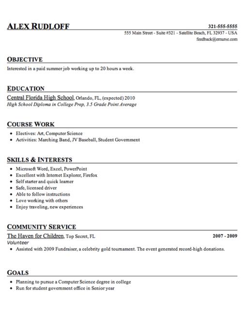 High School Resume Ex3