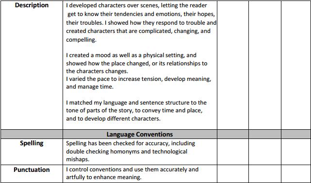 Narrative Checklist p2