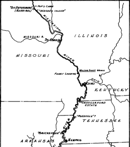 huckleberry finn map of journey